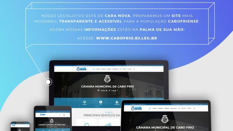 Câmara Municipal de Cabo Frio lança novo portal