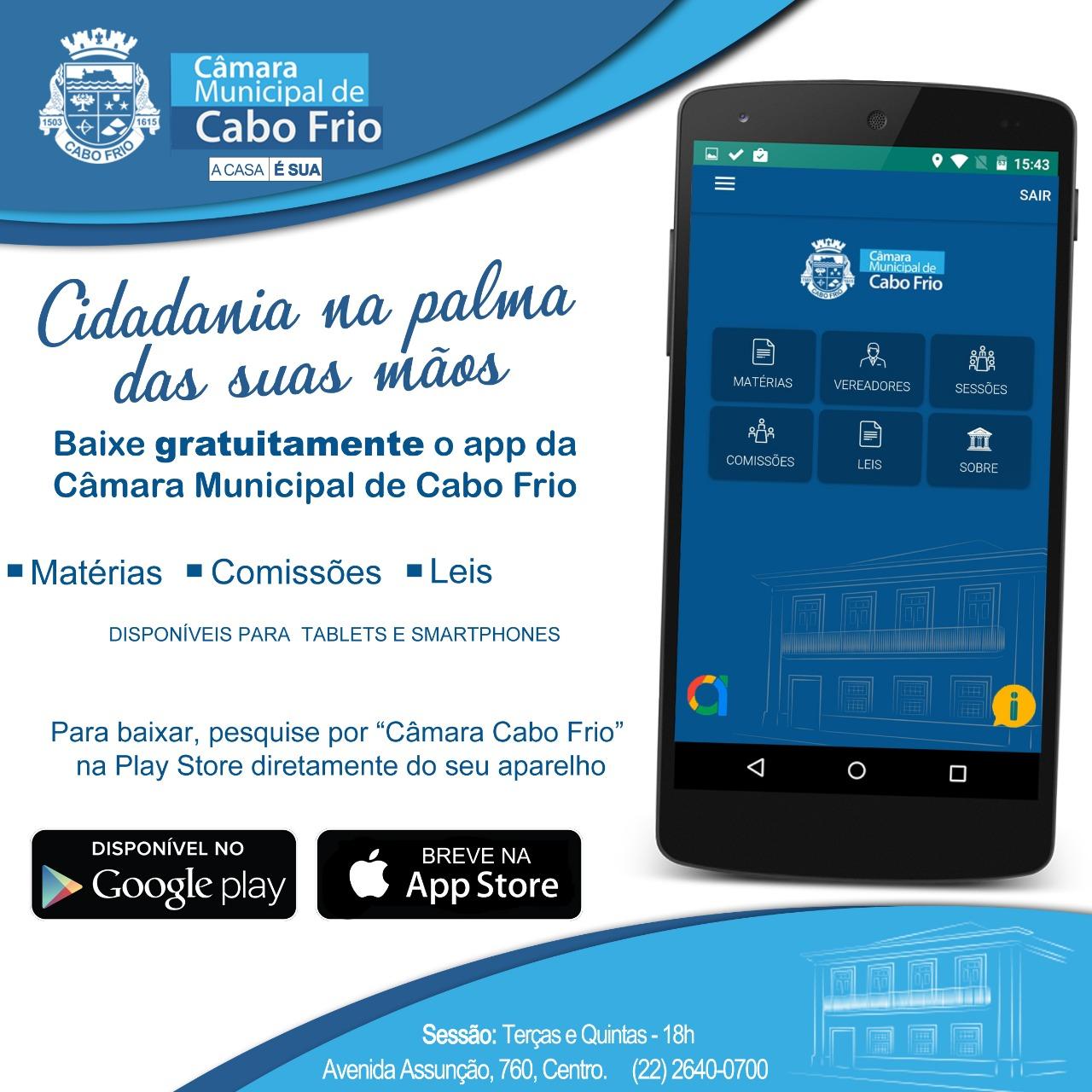 Baixe o aplicativo Câmara Municipal de Cabo Frio